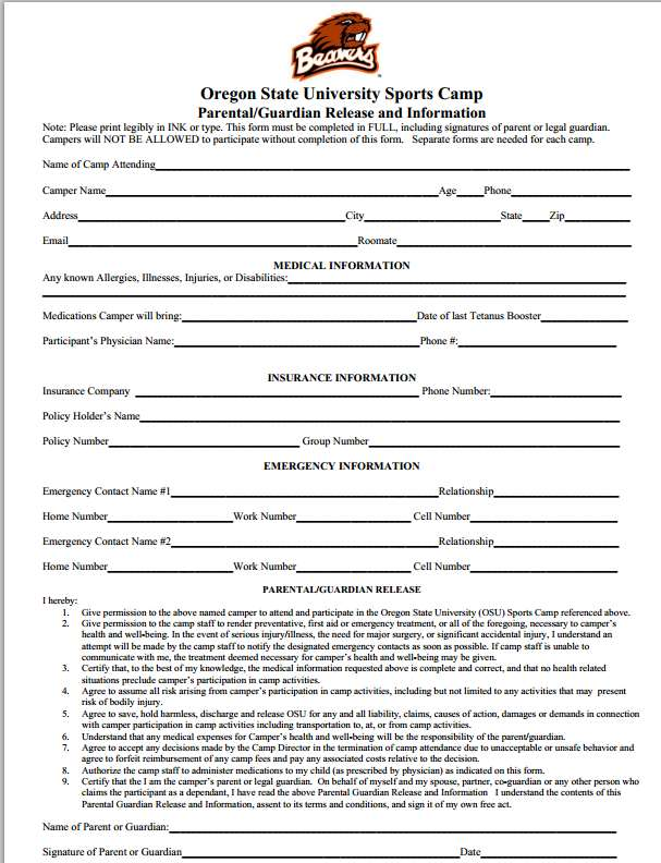 Sample Medical Consent Form Dental Release Form Hipaa Consent